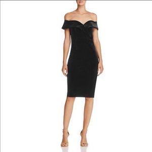 BARDOT X REVOLVE midi bustier velvet dress